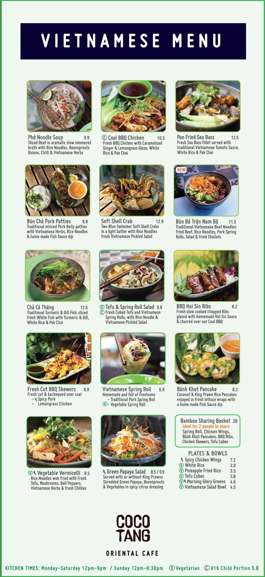 cocotang cafe menu